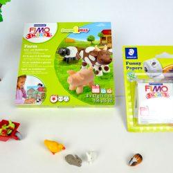FIMO Funny Kits und Farm für Kinder zum Kneten