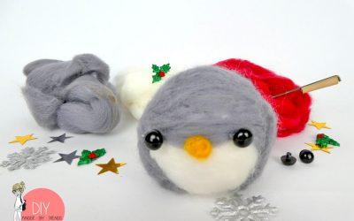 Pinguin filzen - Anleitung für Trockenfilzen kinderleicht