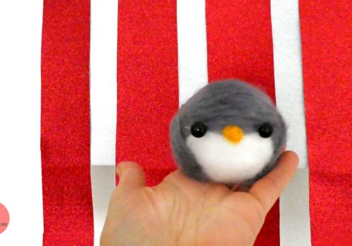 Pinguin filzen - Bastelidee für Kinder