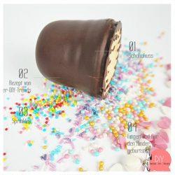 Anleitung Rezept Fingerfood Schokokuss mit Sprinkles Kuchen & Dessert