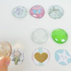 Muggelsteine selber machen - Cabochons DIY Deko aus Glassteinen mit Anleitung
