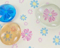 DIY Glassteine Cabochons mit Muster selber basteln