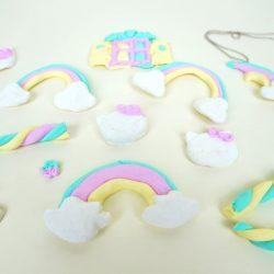 Kawaii Clay - aus FIMO kleine Figuren wie Regenbogen, Pilz, Süßigkeiten, Hello Kitty modellieren