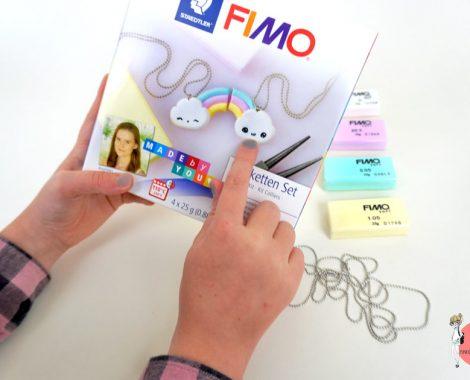 FIMO Staedtler Kawaii Kette mit Pastellfarbener Modelliermasse