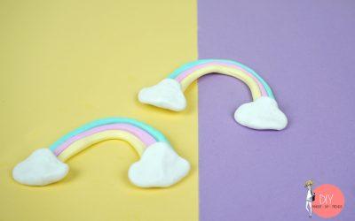 Regenbogen aus FIMO basteln mit Kindern