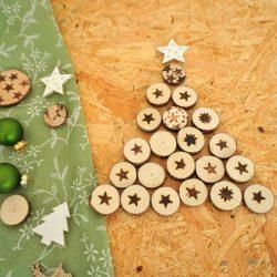 Onlinekurs Kreativkurs Brandmalerei - Weihnachtsbaum aus Holzscheiben