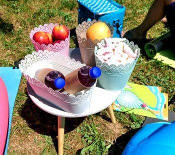 Picknick draußen mit Kindern - Familienausflug