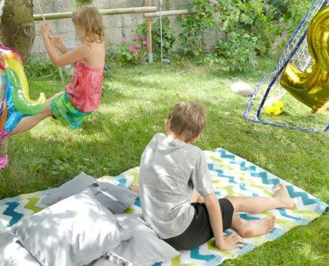 Outdoor Teppich BESTTOY als Spielstation für den Kindergeburtstag