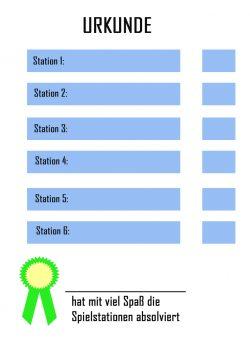 Gratis Vorlage Urkunde für den Kindergeburtstag