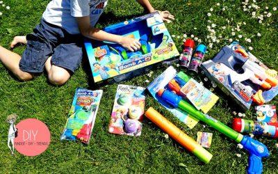 Spielideen und Wasserspielzeug für draußen