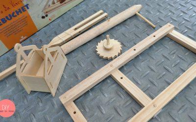 Gegengewicht aus Holz für das Trebuchet Katapult bauen