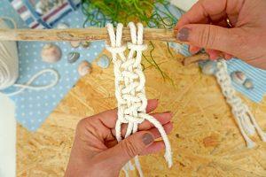 Makramee knoten für Anfänger - Makramee knüpfen mit Kindern: Schlüsselanhänger