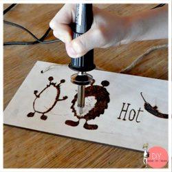 Anleitung Brandmalerei mit Kindern malen