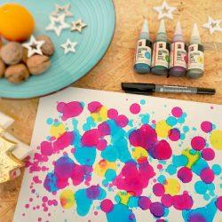 Malen mit Alcohol Ink - Effekte malen und Karte oder Anhänger gestalten.