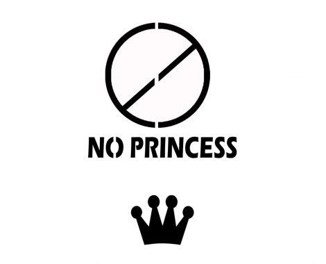 No Princess Schriftzug Lettering Vorlage Download zum gratis ausdrucken