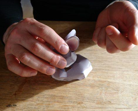 Tutorial für den Papier Osterhasen