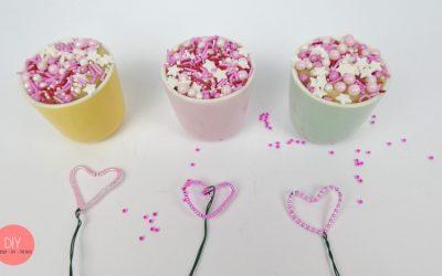 Bastelidee zum Muttertag - Perlenherz