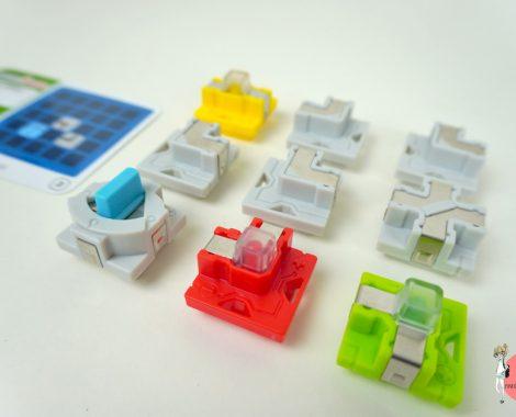 Stromkreis Spielsteine mit LED und Aufgabenkarte