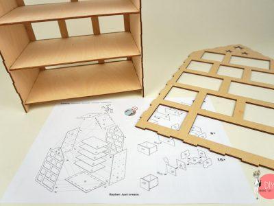 Holzbausatz Rayher Adventskalender - Upcycling