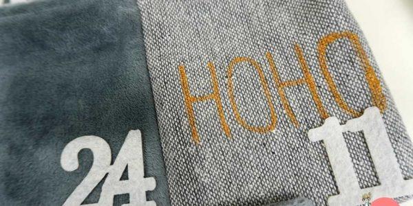 Einfaches Lettering mit Goldmarker auf Textil