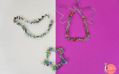 Weihnachtliche Perlenanhänger basteln