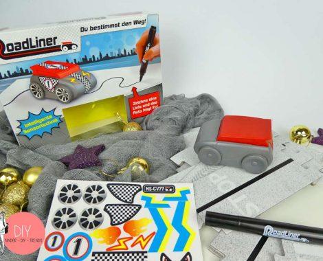 Roadliner Roboter Auto mit DIY Sticker - Inhalt