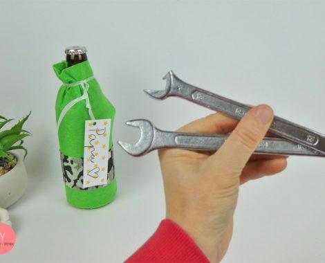 Schraubenschlüssel vorher und nachher - Flaschenöffner DIY