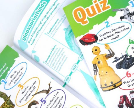 Wissensquiz für Kinder im Buch