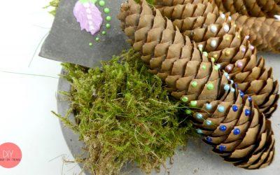 Deko selber machen mit Tannenzapfen - Bastelidee für den Herbst