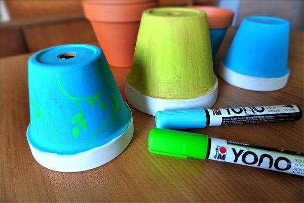 YONO Acrylmarker zum Bemalen der Terrakotta Töpfe