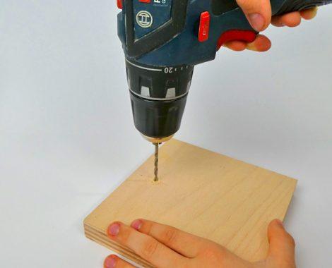 Holzstück vorbereiten