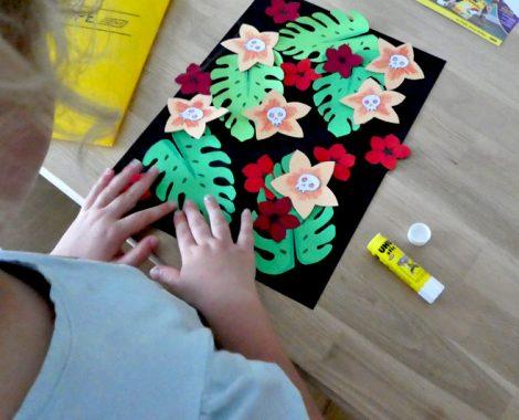 Kinderleichte Bastelidee mit Papier und gratis Vorlage