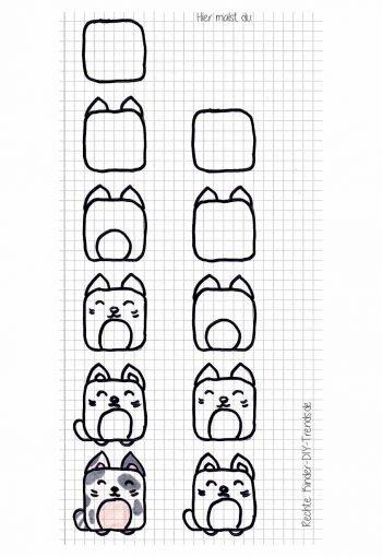 zeichnen lernen schrittfürschritt  kinderdiytrends