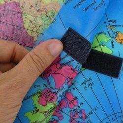 Tasche mit Landkarten Muster aus Wachstuchstoff und mit Klettverschluss nähen