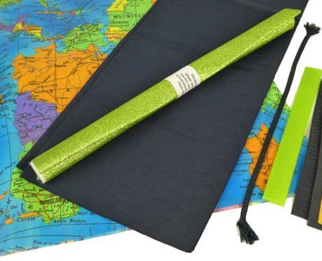 Wachstuchstoff mit Landkartenmuster - Strandtasche für Jungen und Mädchen selber nähen