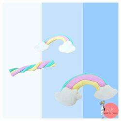 Anleitung Kawaii Regenbogen aus FIMO