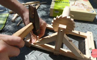 Katapult nach Leonardo da Vinci bauen mit einem Bausatz