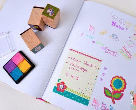 Kreatives Schreiben mit Tagebuch oder Bullet Journal für Kinder