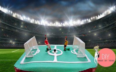 Fußball WM Kuchen zum Kindergeburtstag backen