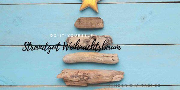 Anleitung Strandgut Weihnachtsbaum basteln mit Kindern